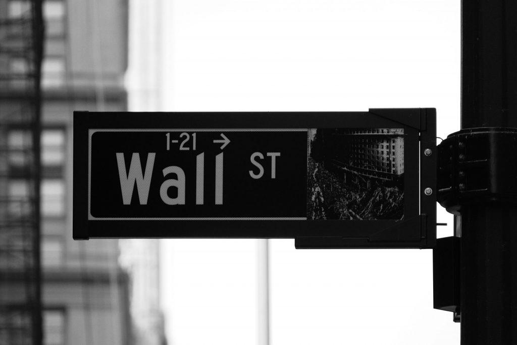 Visuelle Untermalung Aktien (Wall Street)