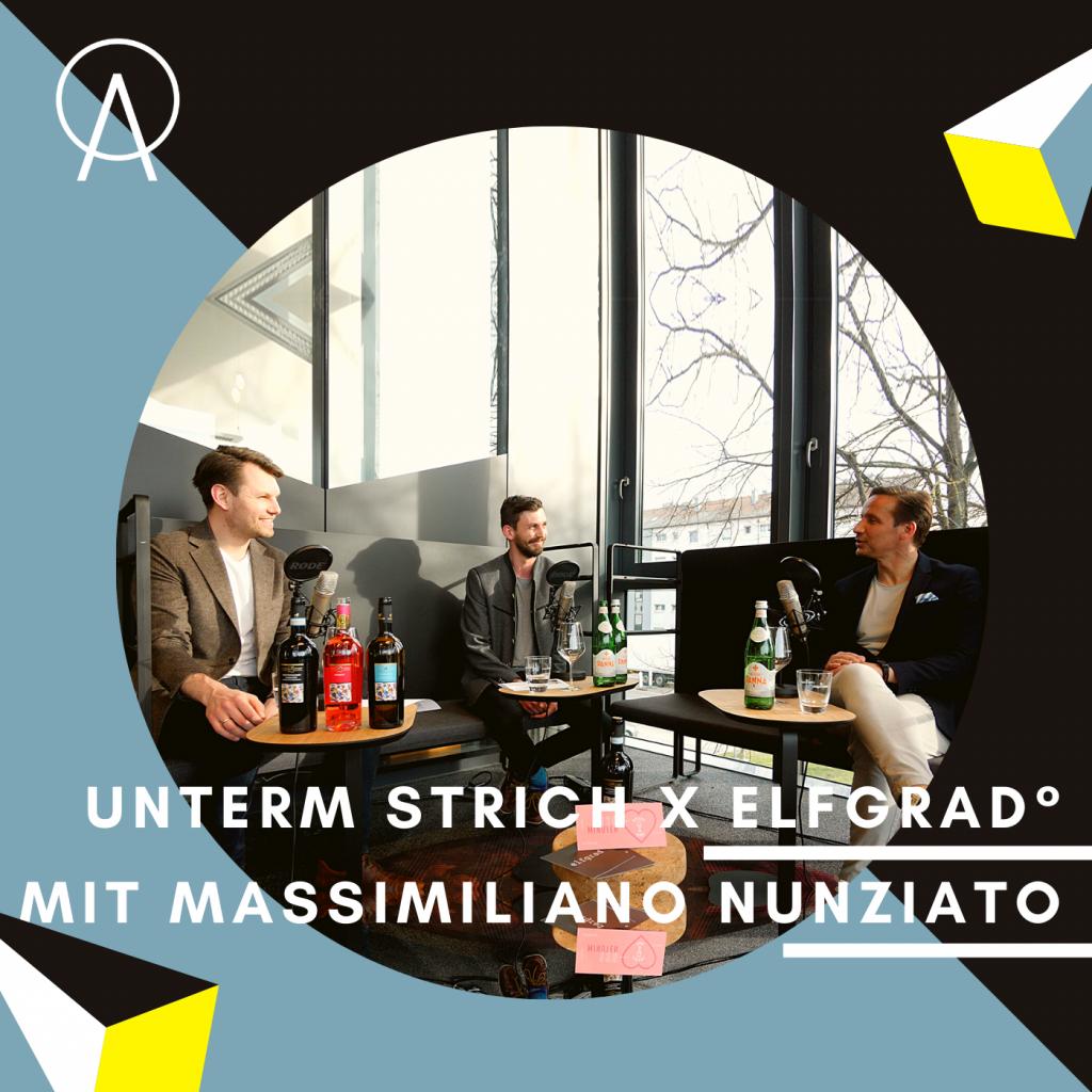 Thumbnail Unterm Strich mit Julius und Frank von elfgrad sowie Weinexperten Massimiliano Nunziato