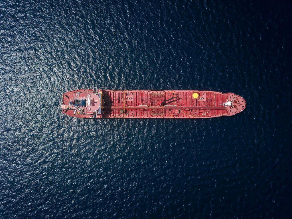 Containerschifffotografie von oben